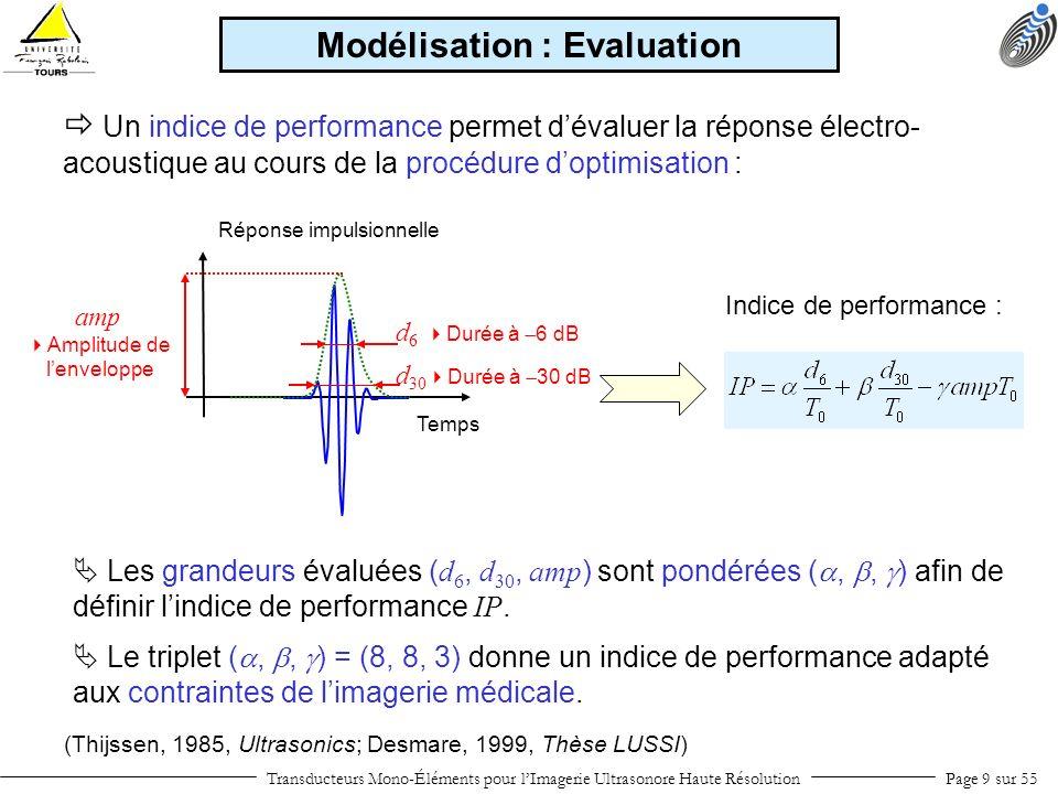 Modélisation : Evaluation