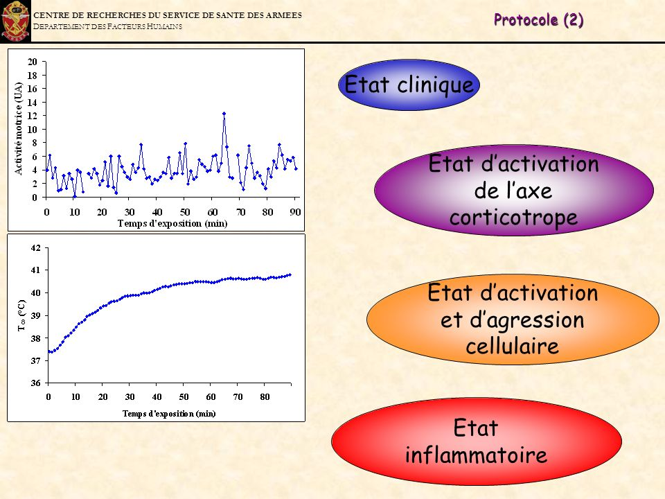 Etat d'activation de l'axe corticotrope