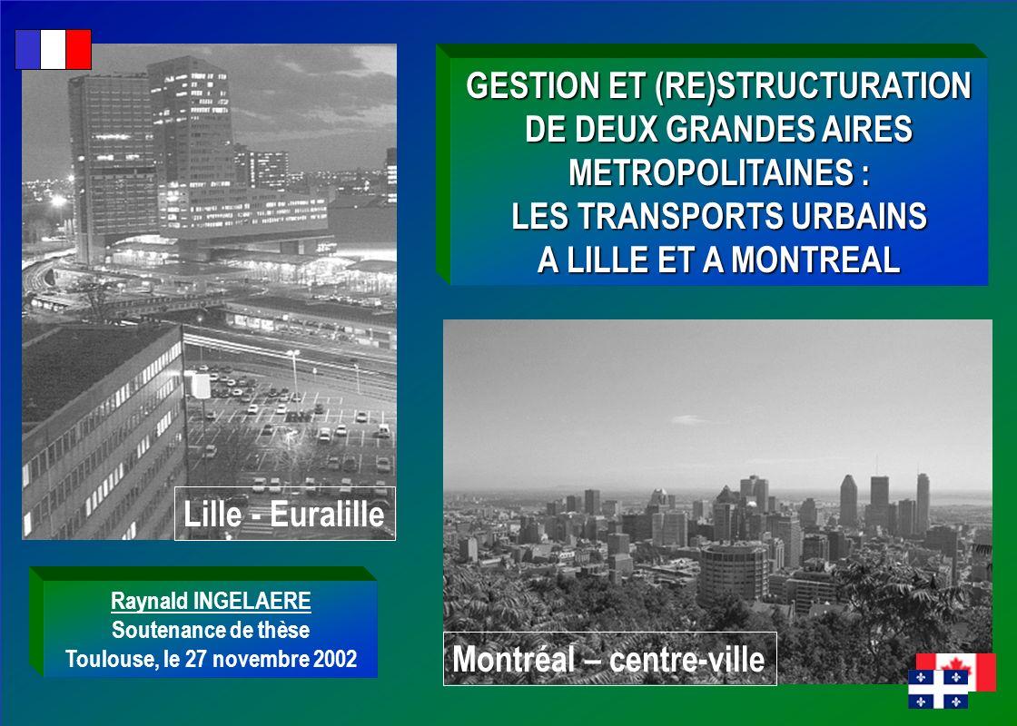 GESTION ET (RE)STRUCTURATION DE DEUX GRANDES AIRES METROPOLITAINES :