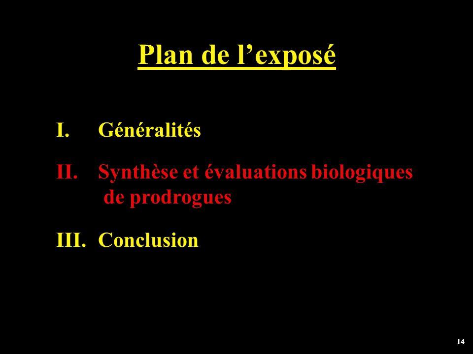 Plan de l'exposé Généralités