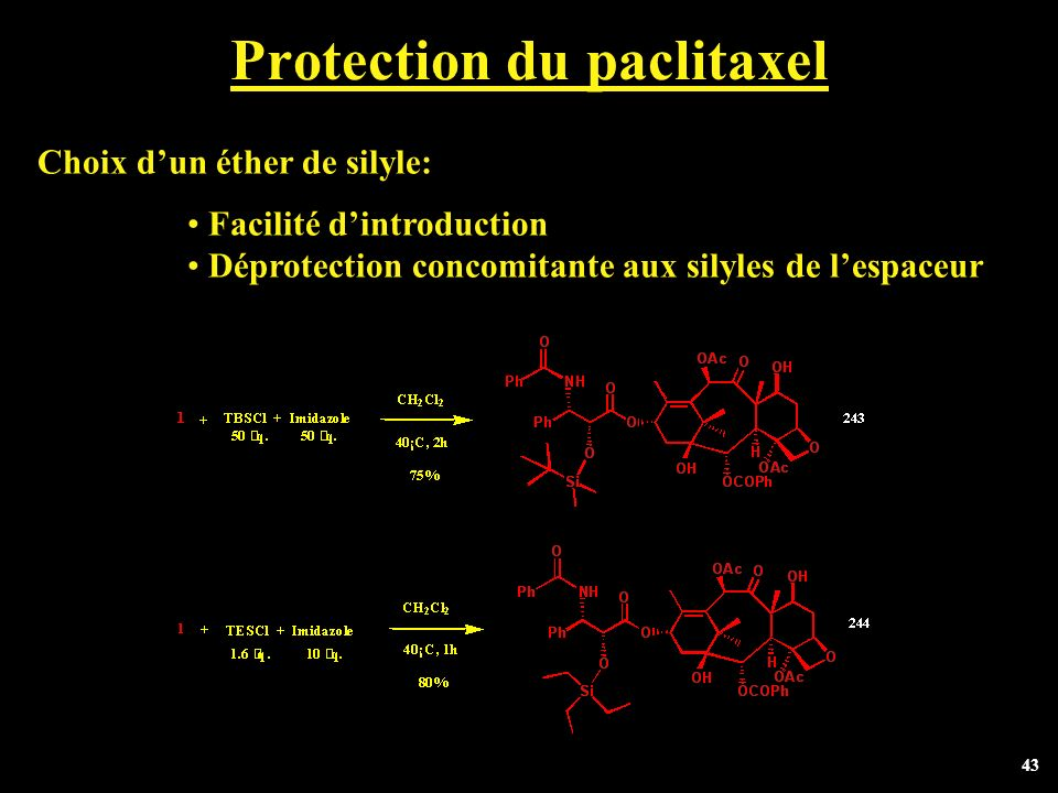 Protection du paclitaxel