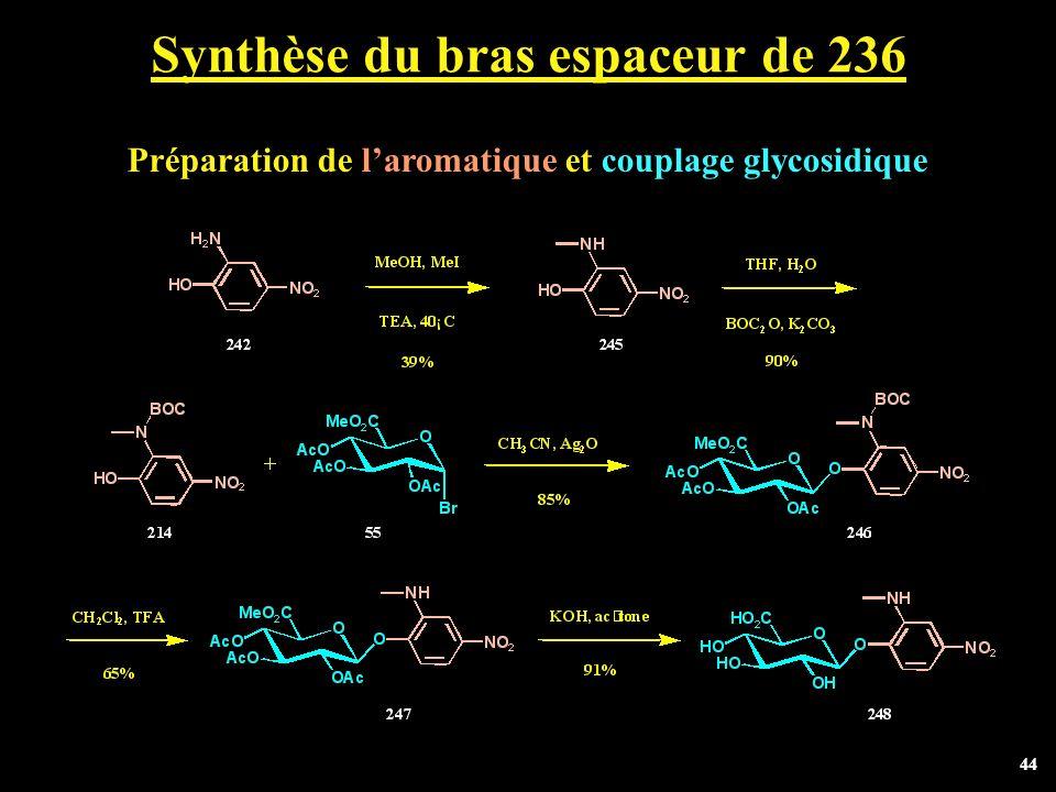 Synthèse du bras espaceur de 236