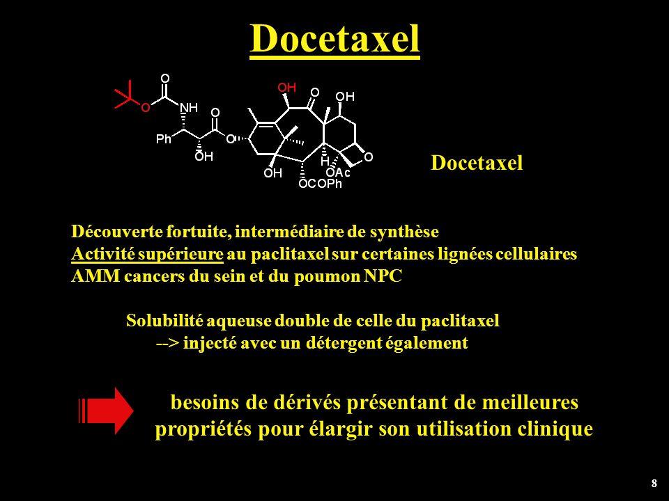 Docetaxel Docetaxel besoins de dérivés présentant de meilleures