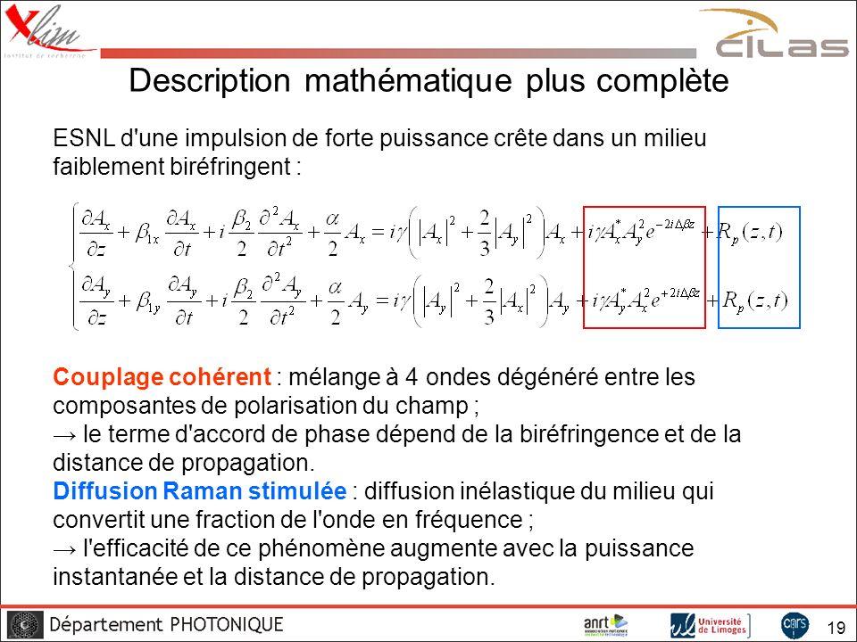 Description mathématique plus complète