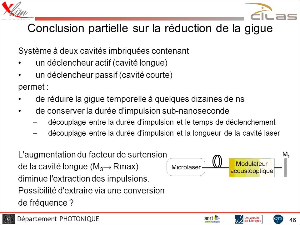 Conclusion partielle sur la réduction de la gigue