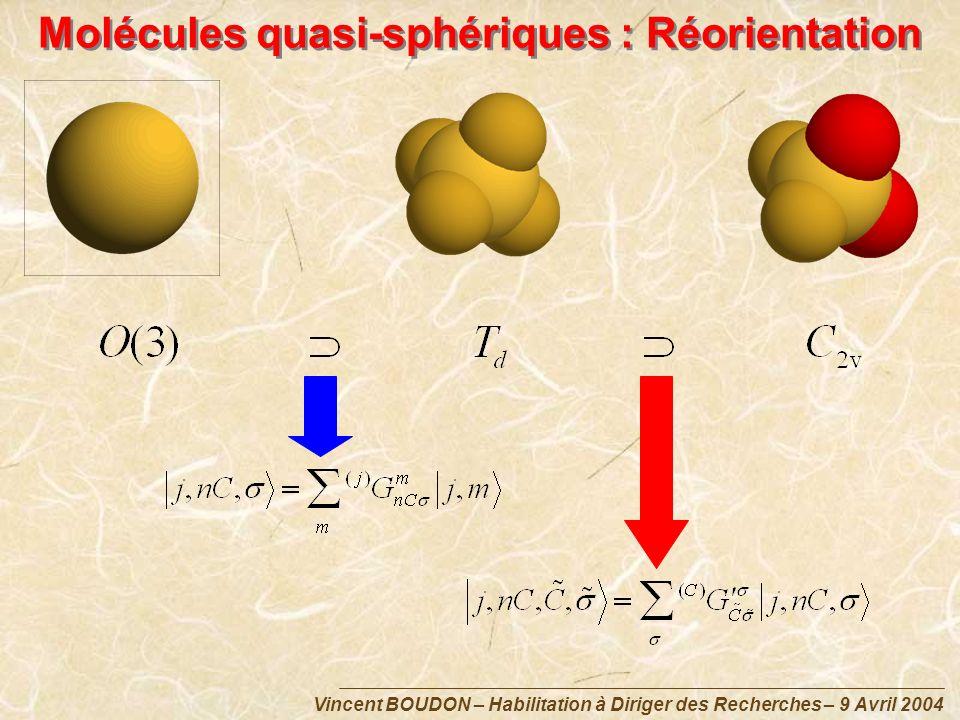 Molécules quasi-sphériques : Réorientation