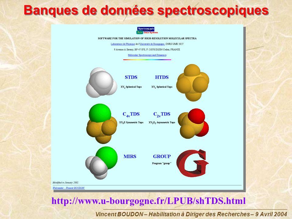 Banques de données spectroscopiques