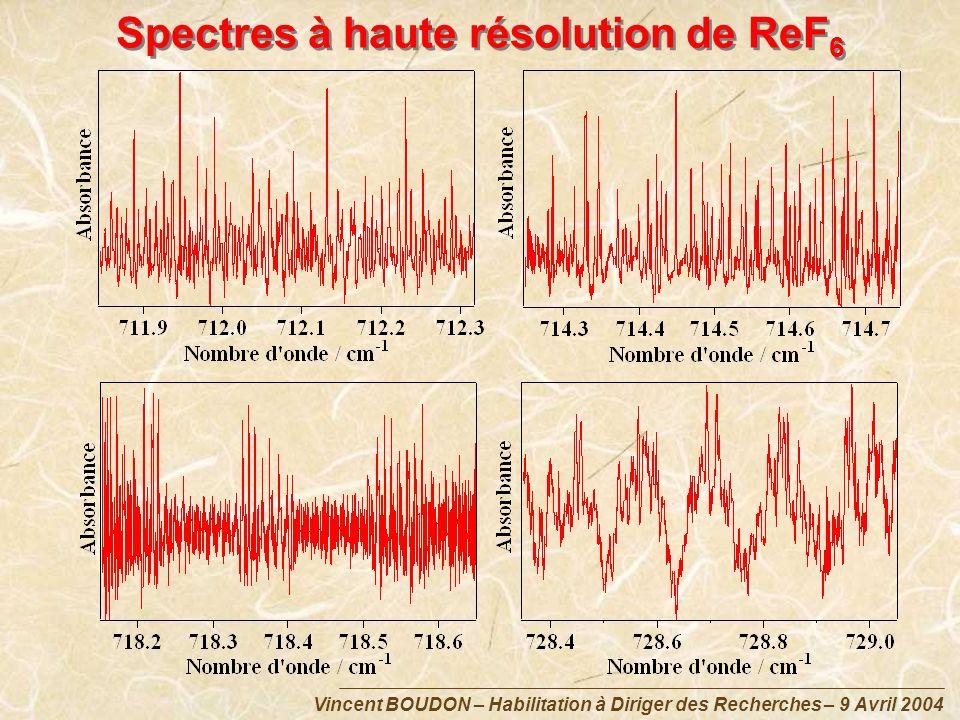 Spectres à haute résolution de ReF6