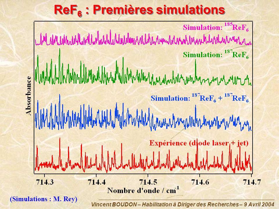 ReF6 : Premières simulations