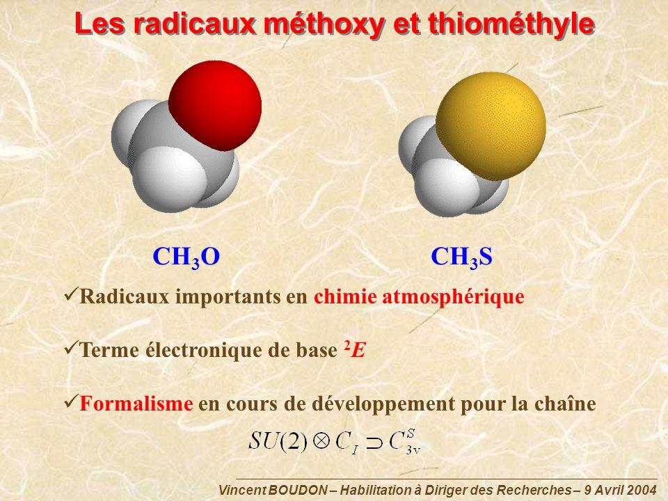 Les radicaux méthoxy et thiométhyle