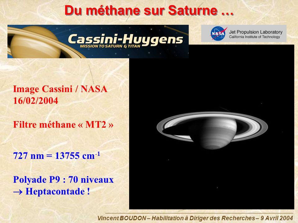 Du méthane sur Saturne …