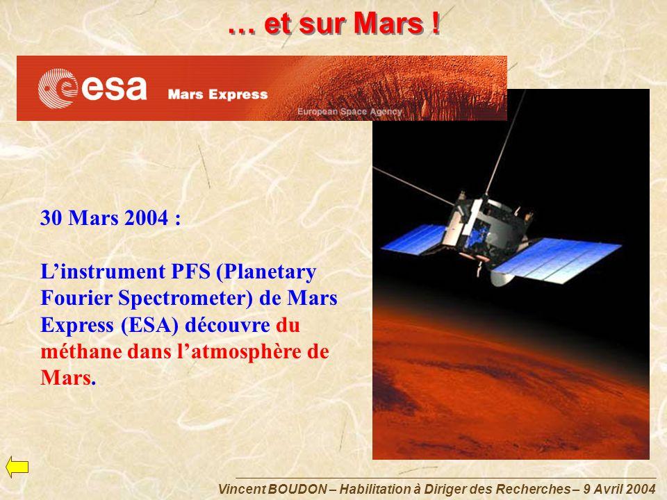 … et sur Mars ! 30 Mars 2004 :