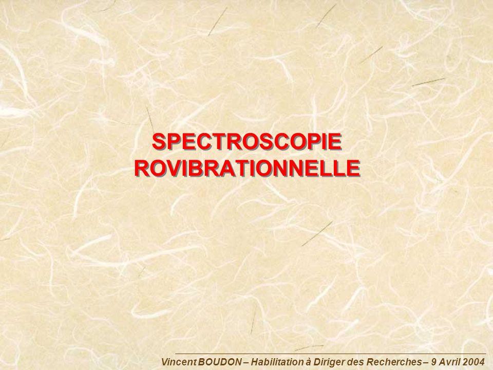 SPECTROSCOPIE ROVIBRATIONNELLE