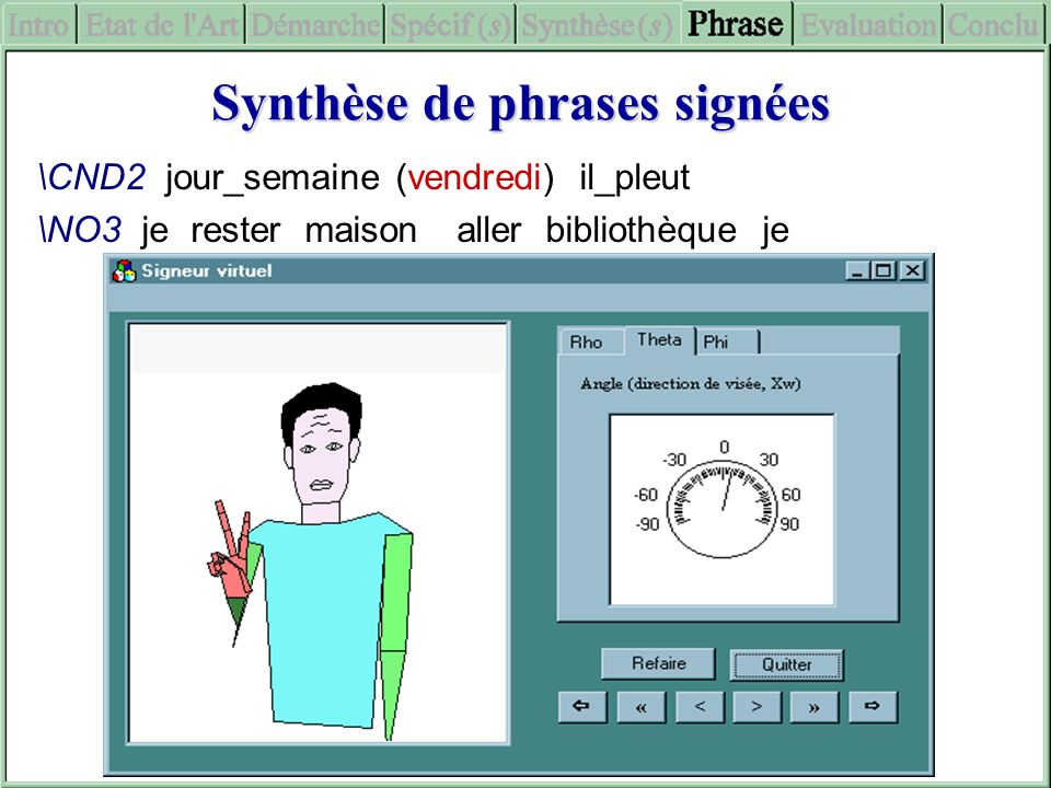 Synthèse de phrases signées