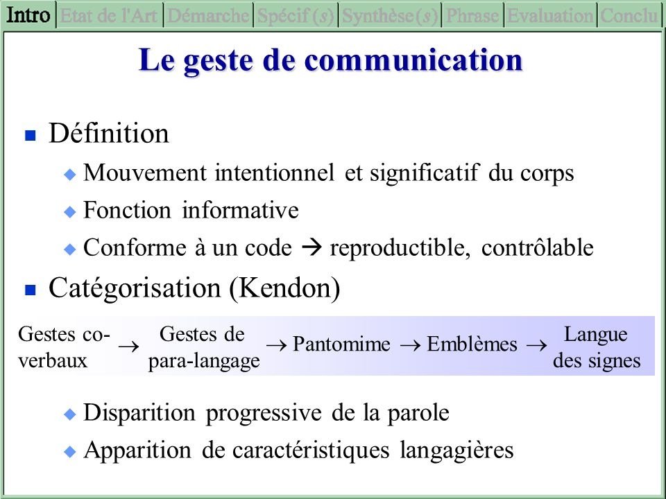 Le geste de communication