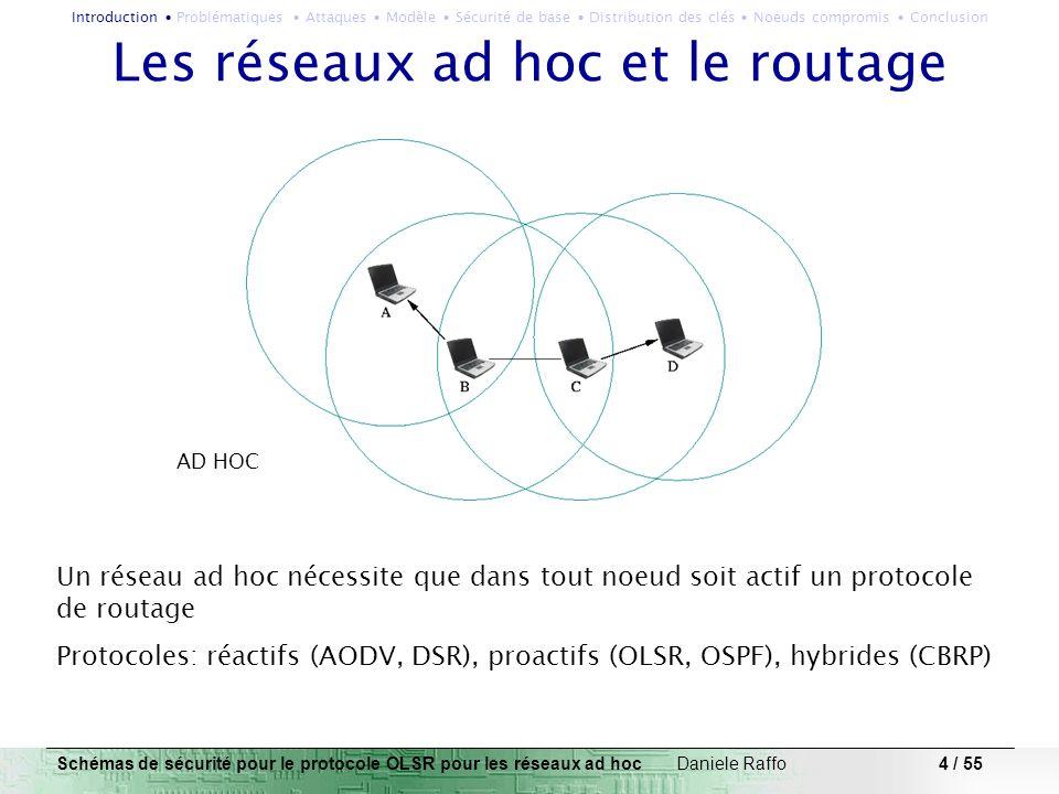 Les réseaux ad hoc et le routage