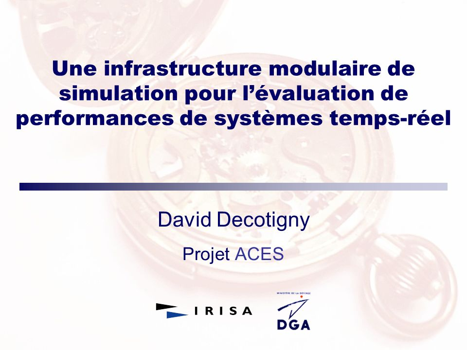 David Decotigny Projet ACES