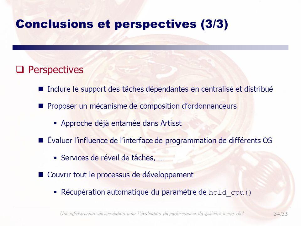 Conclusions et perspectives (3/3)