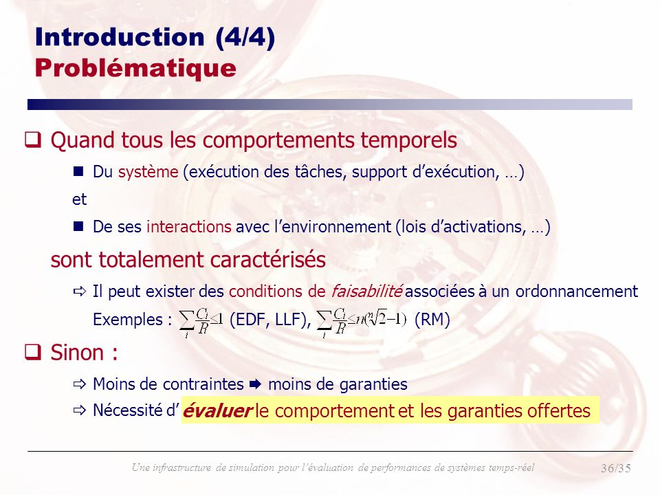 Introduction (4/4) Problématique
