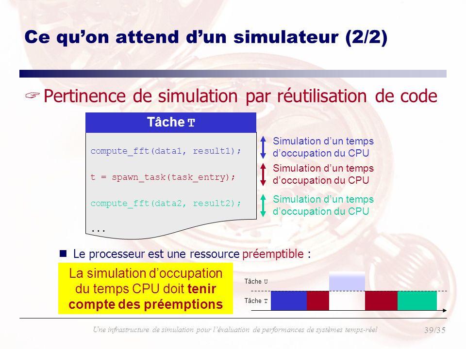 Ce qu'on attend d'un simulateur (2/2)