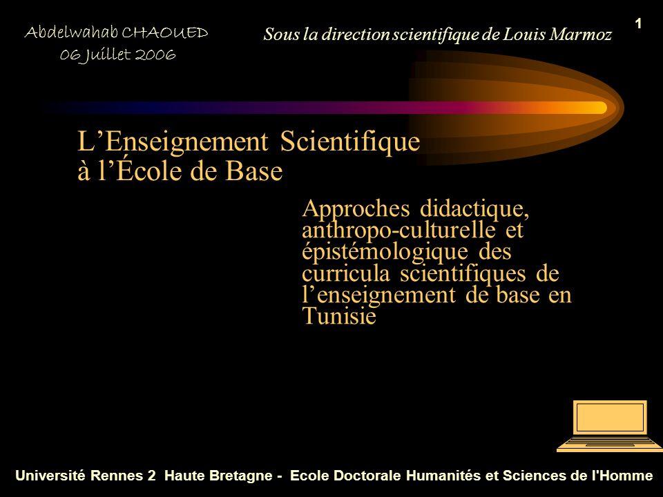 L'Enseignement Scientifique à l'École de Base
