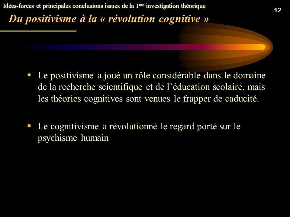 Du positivisme à la « révolution cognitive »