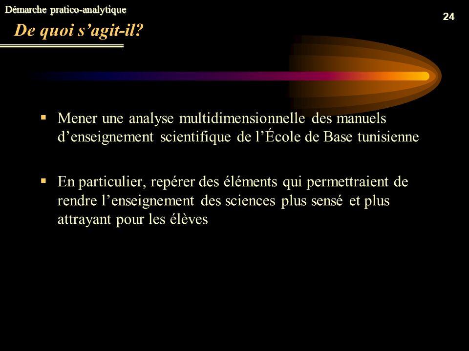 Démarche pratico-analytique