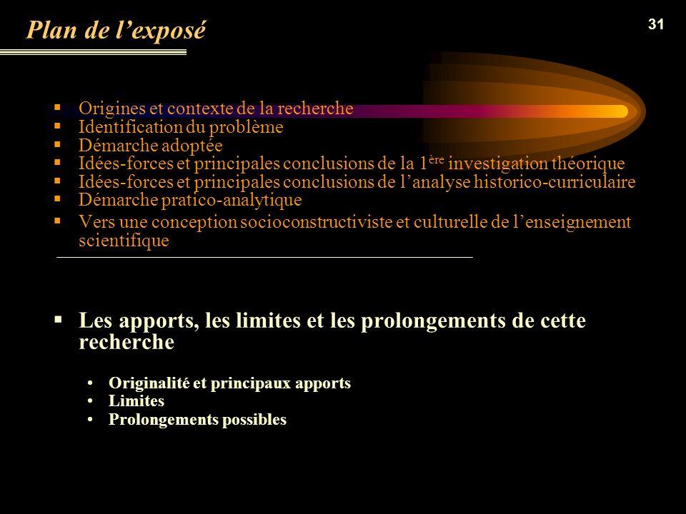 Plan de l'exposé Origines et contexte de la recherche. Identification du problème. Démarche adoptée.