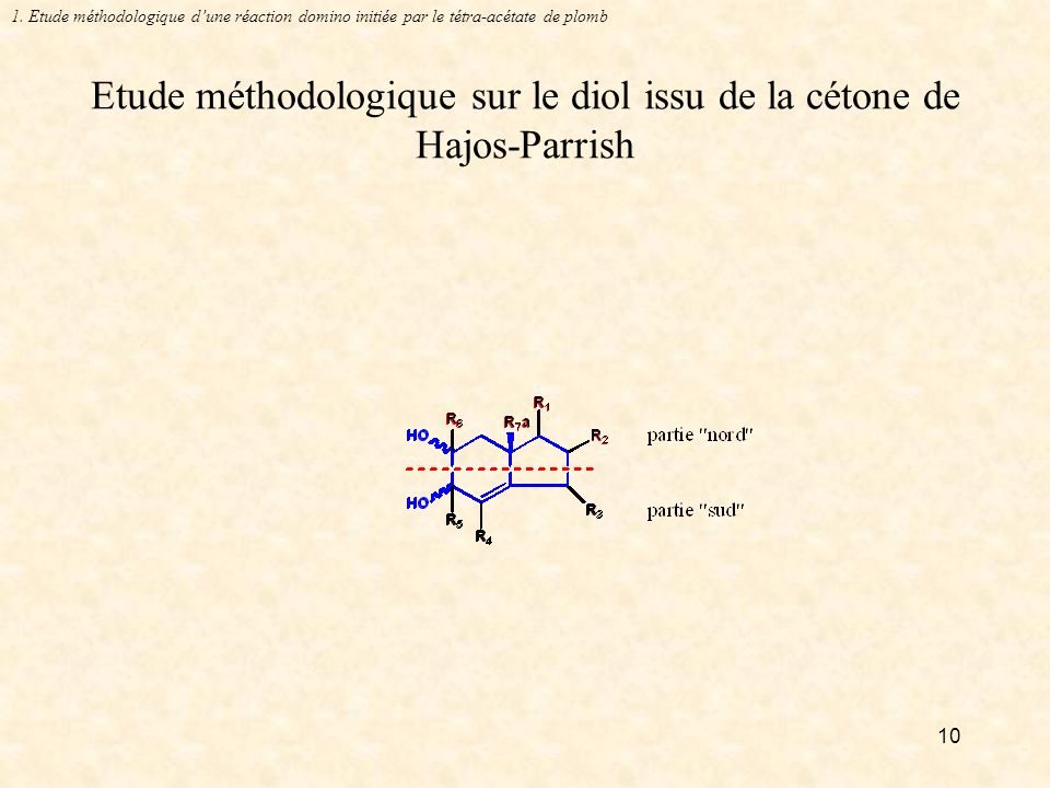 Etude méthodologique sur le diol issu de la cétone de Hajos-Parrish