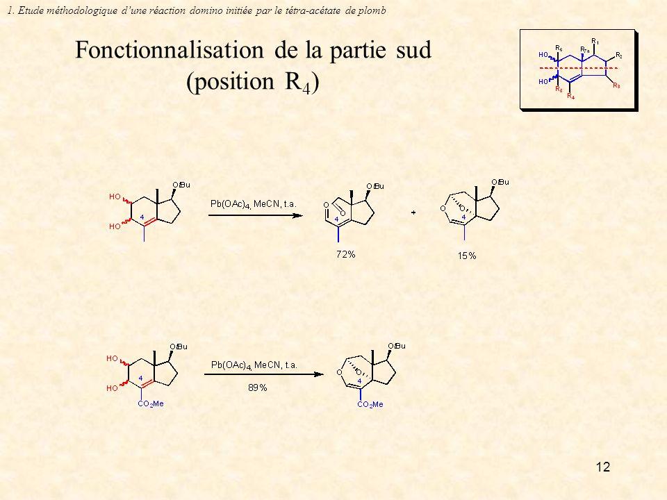 Fonctionnalisation de la partie sud (position R4)