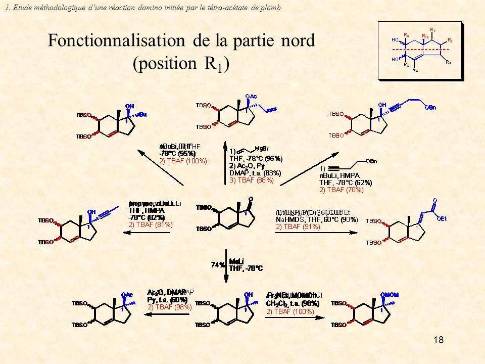 Fonctionnalisation de la partie nord (position R1)