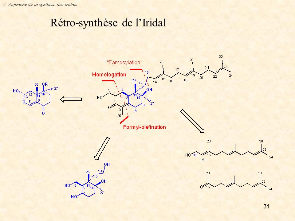 Rétro-synthèse de l'Iridal