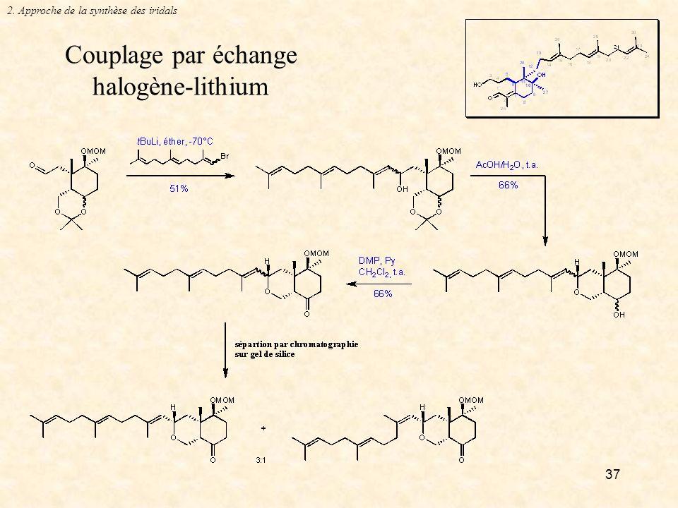 Couplage par échange halogène-lithium
