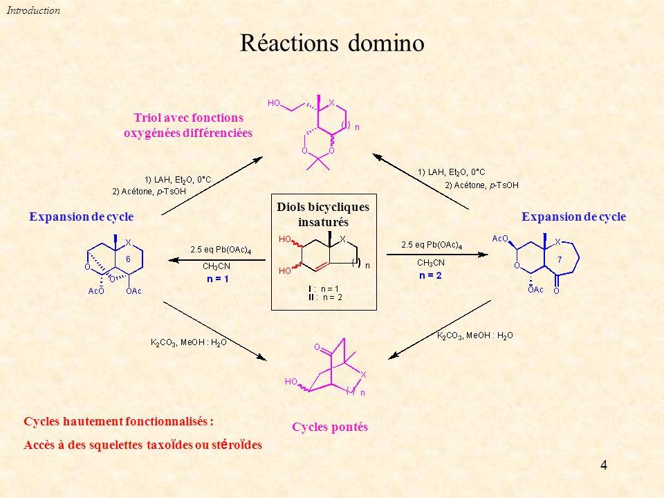 Triol avec fonctions oxygénées différenciées
