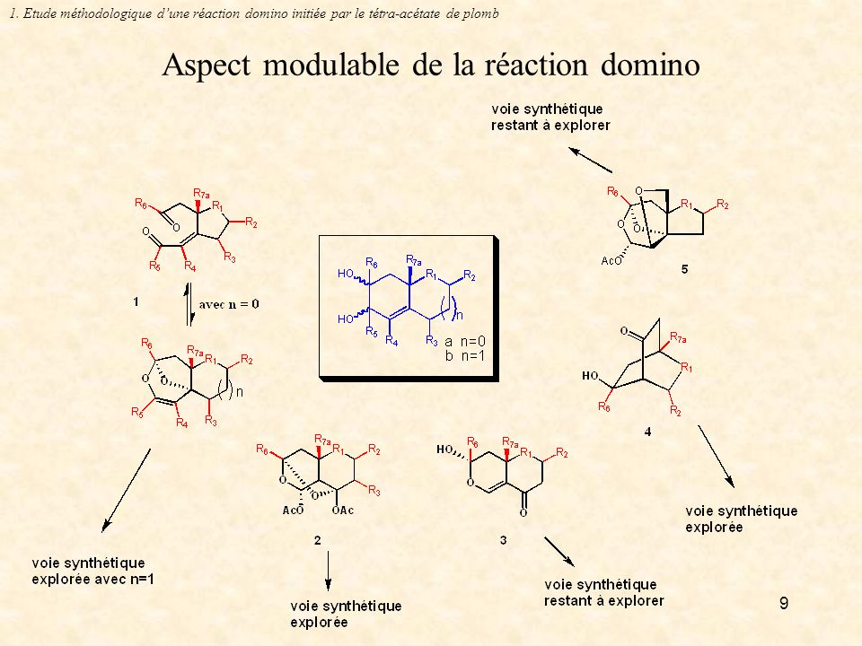 Aspect modulable de la réaction domino
