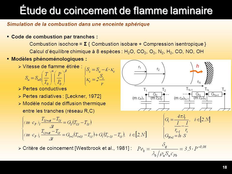 Simulation de la combustion dans une enceinte sphérique