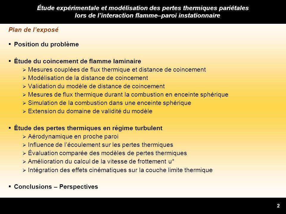 Étude expérimentale et modélisation des pertes thermiques pariétales lors de l'interaction flamme–paroi instationnaire