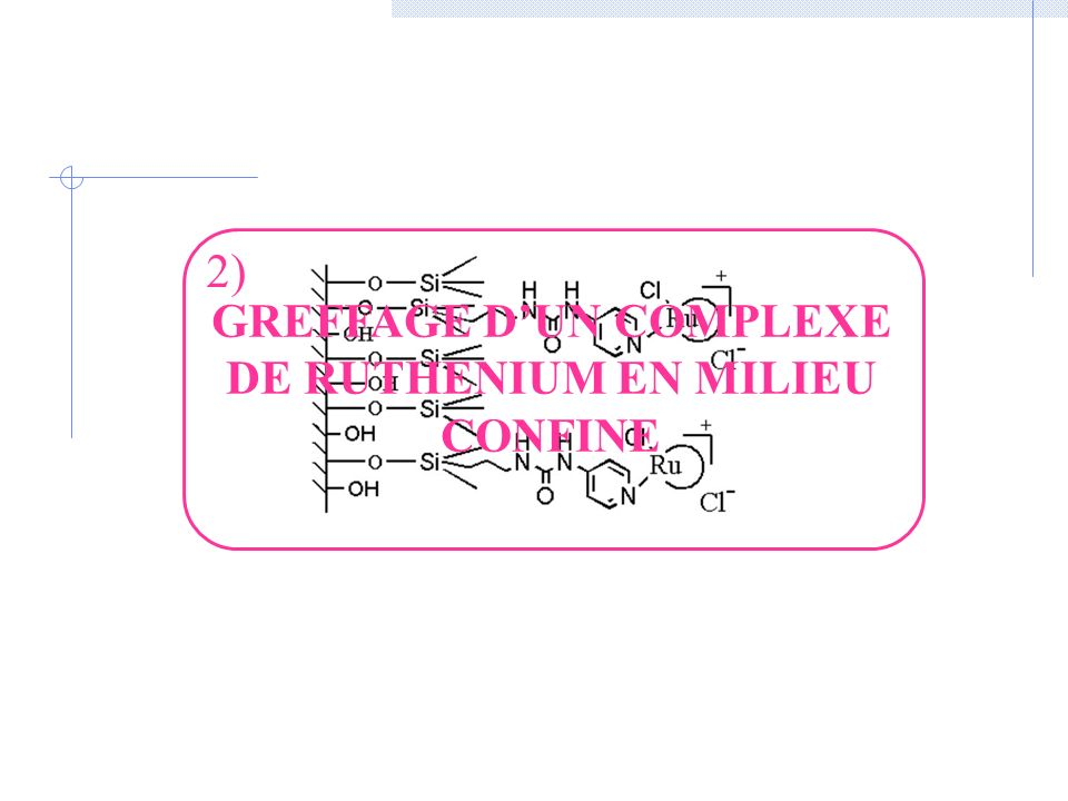 GREFFAGE D'UN COMPLEXE DE RUTHENIUM EN MILIEU CONFINE