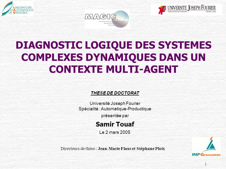 DIAGNOSTIC LOGIQUE DES SYSTEMES COMPLEXES DYNAMIQUES DANS UN CONTEXTE MULTI-AGENT