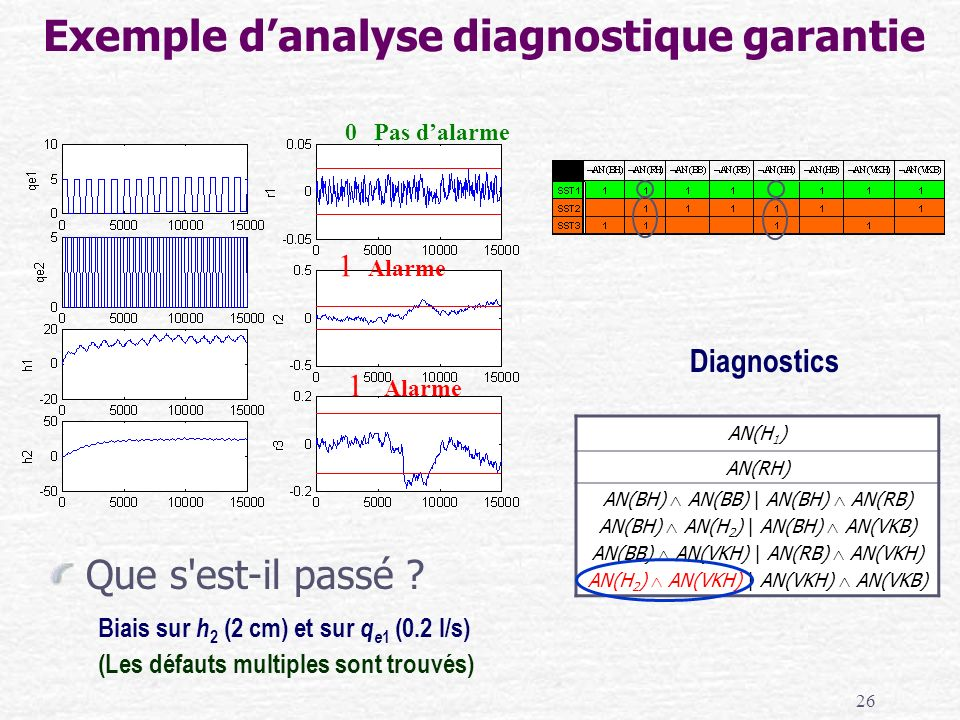 Exemple d'analyse diagnostique garantie