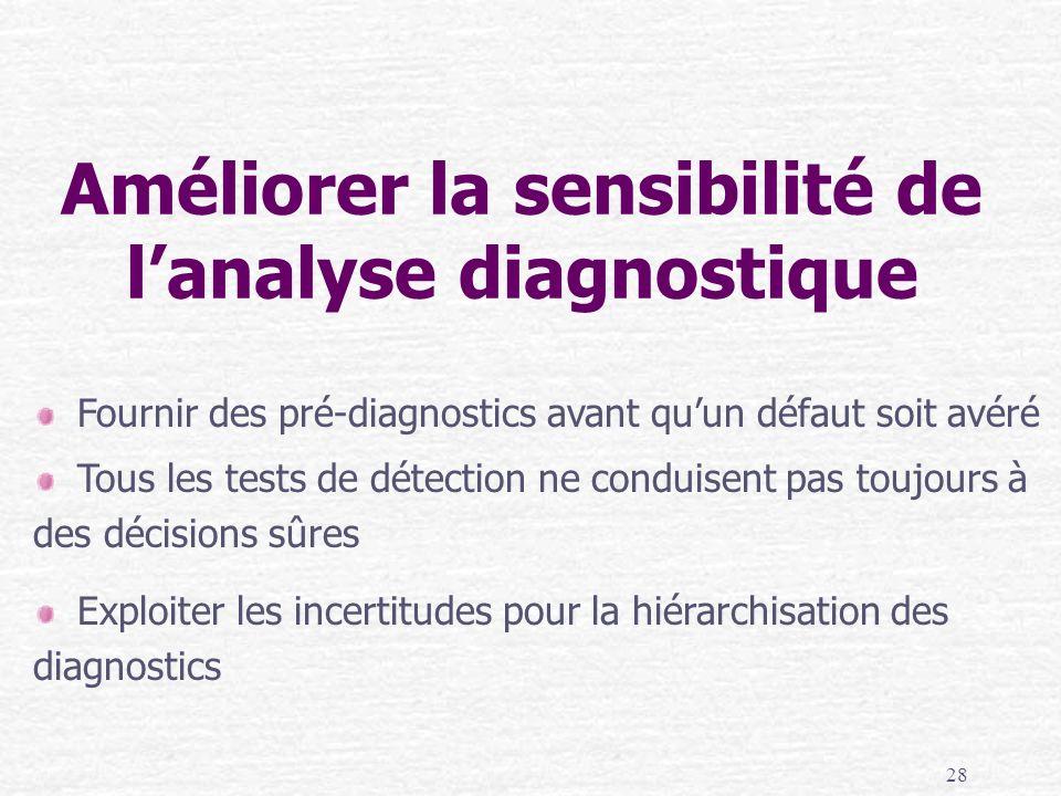 Améliorer la sensibilité de l'analyse diagnostique