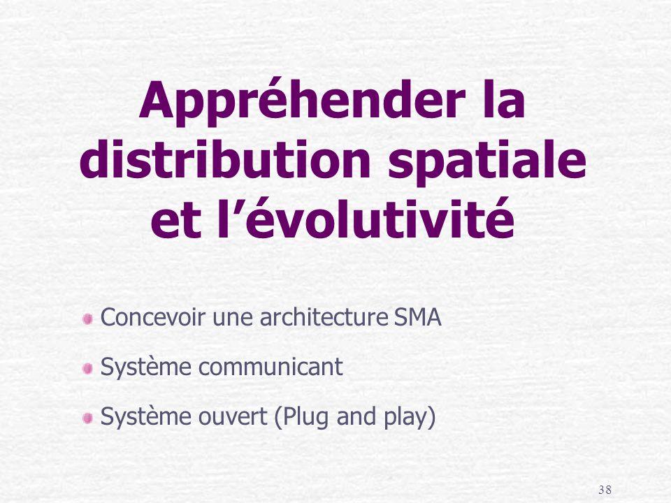 Appréhender la distribution spatiale et l'évolutivité