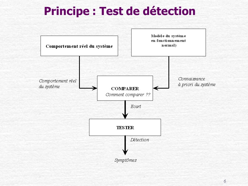 Principe : Test de détection