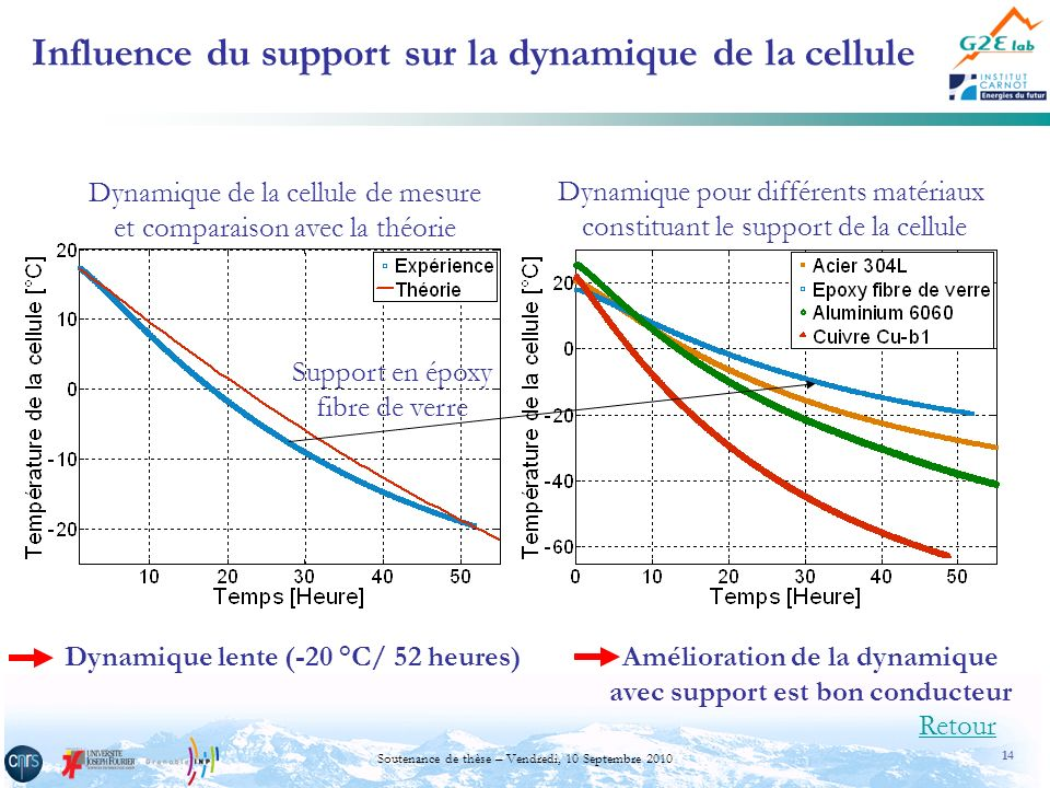 Influence du support sur la dynamique de la cellule