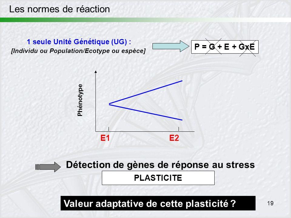 Détection de gènes de réponse au stress