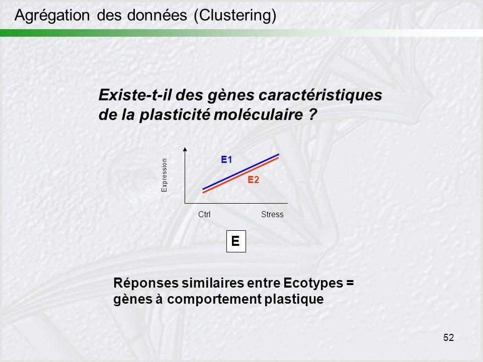 Agrégation des données (Clustering)