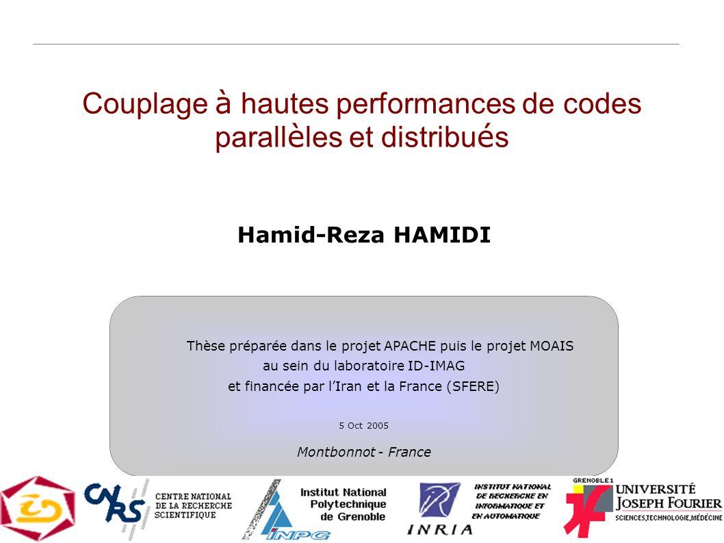 Couplage à hautes performances de codes parallèles et distribués