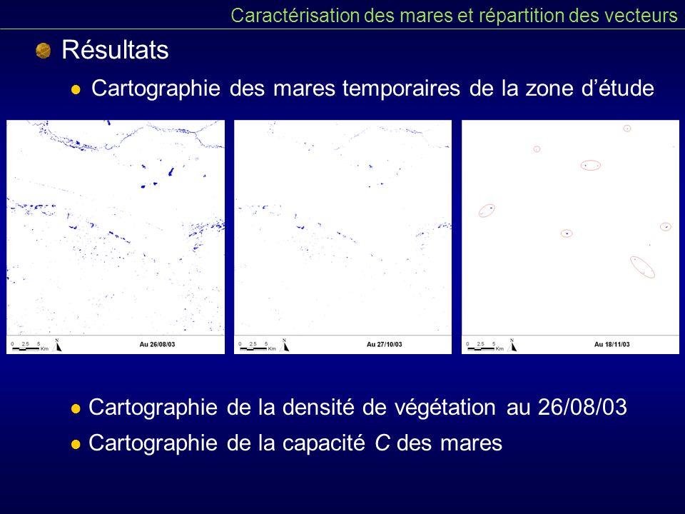 Résultats Cartographie des mares temporaires de la zone d'étude