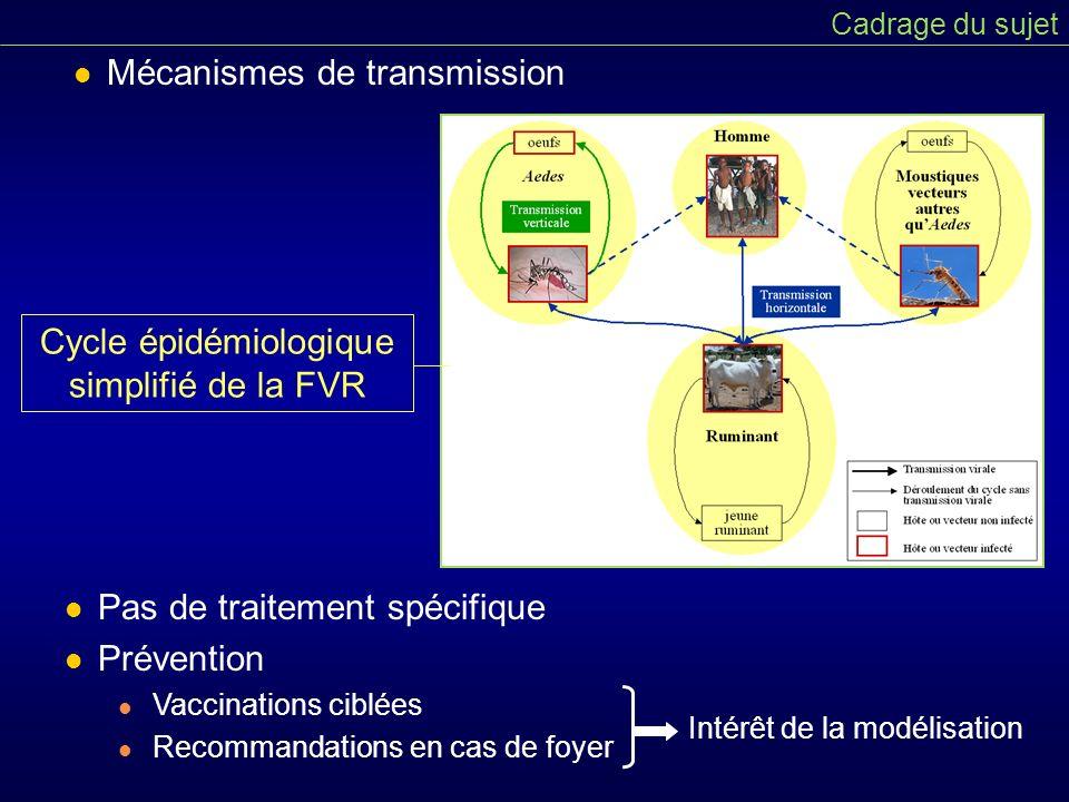 Cycle épidémiologique simplifié de la FVR