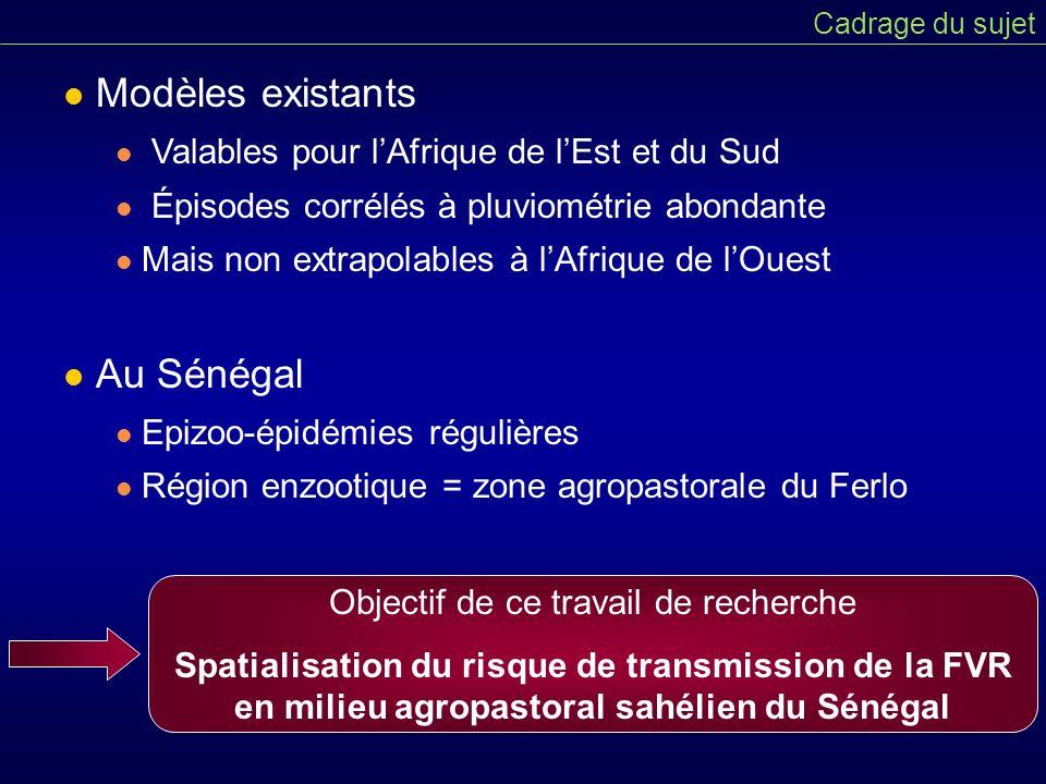 Modèles existants Au Sénégal